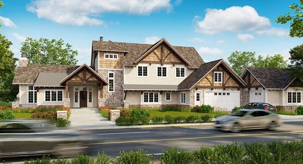 4 Car Garage House Plans