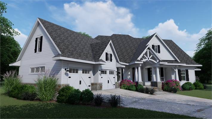 House Plans with an Angled Garage