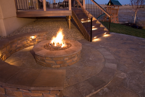 Brighten up your home with a fire pit