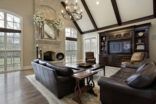 How to decorate a vaulted ceiling