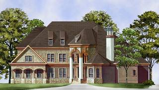 European house plan with 3 bedrooms and 2 5 baths plan 5985 for One story retirement house plans