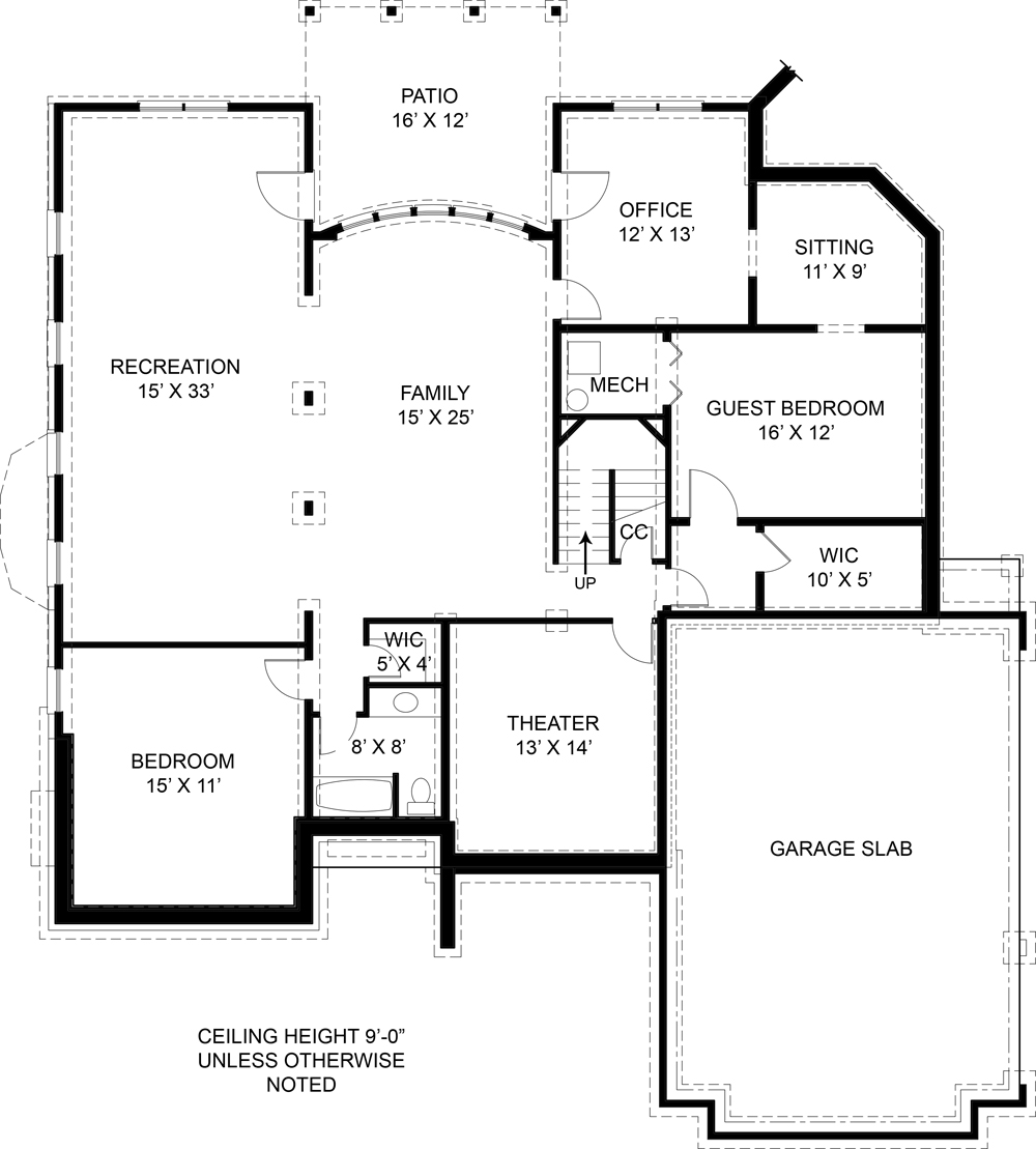 Colonial House Plan   Bedrooms and   Baths   Plan