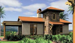 Southwest house plan with 1 bedroom and 1 5 baths plan 5923 for Small southwestern house plans