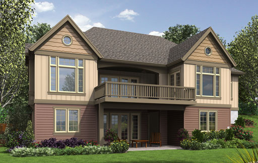 Craftsman House Plan with Finished Daylight Basement DFD House Plans