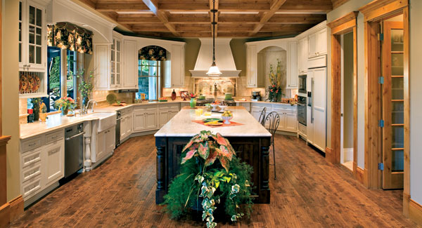 House Plans With Fabulous Kitchen Floor DFD