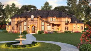 Mediterranean and Tuscan House Designs by DFD House Plans