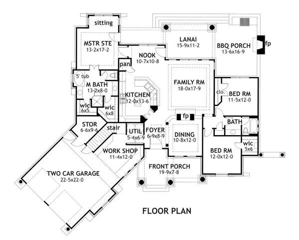 kitchen floor plans, houseplans