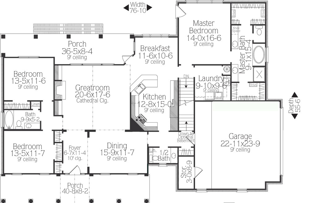 Southern House Plan   Bedrooms and   Baths   Plan First Floor Plan