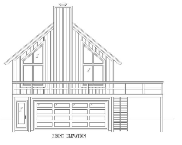 Front 2 by DFD House Plans