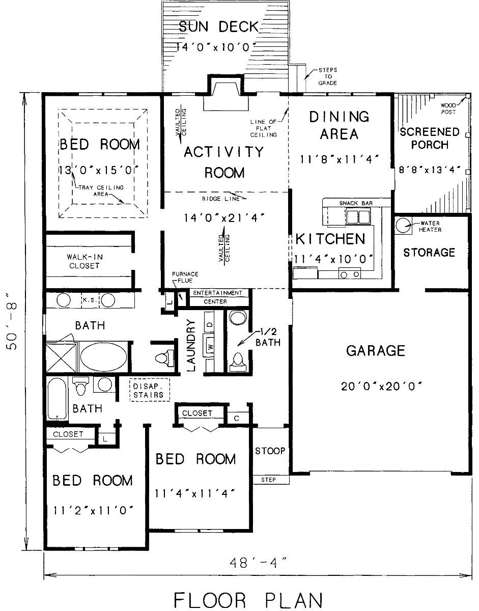 Cottage House Plan   Bedrooms and   Baths   Plan