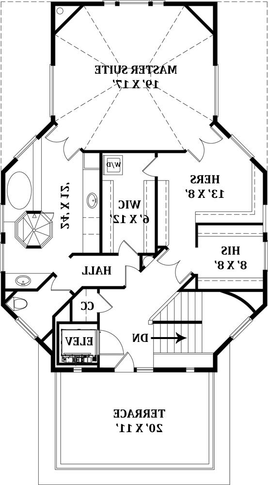 Third Floor Plan by DFD House Plans