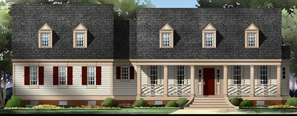 Alternate Front Elevation by DFD House Plans