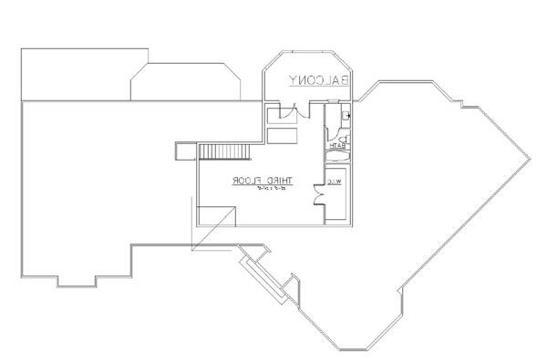3rd Floor by DFD House Plans