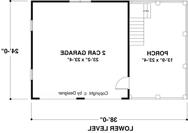 Lower Level Floorplan by DFD House Plans