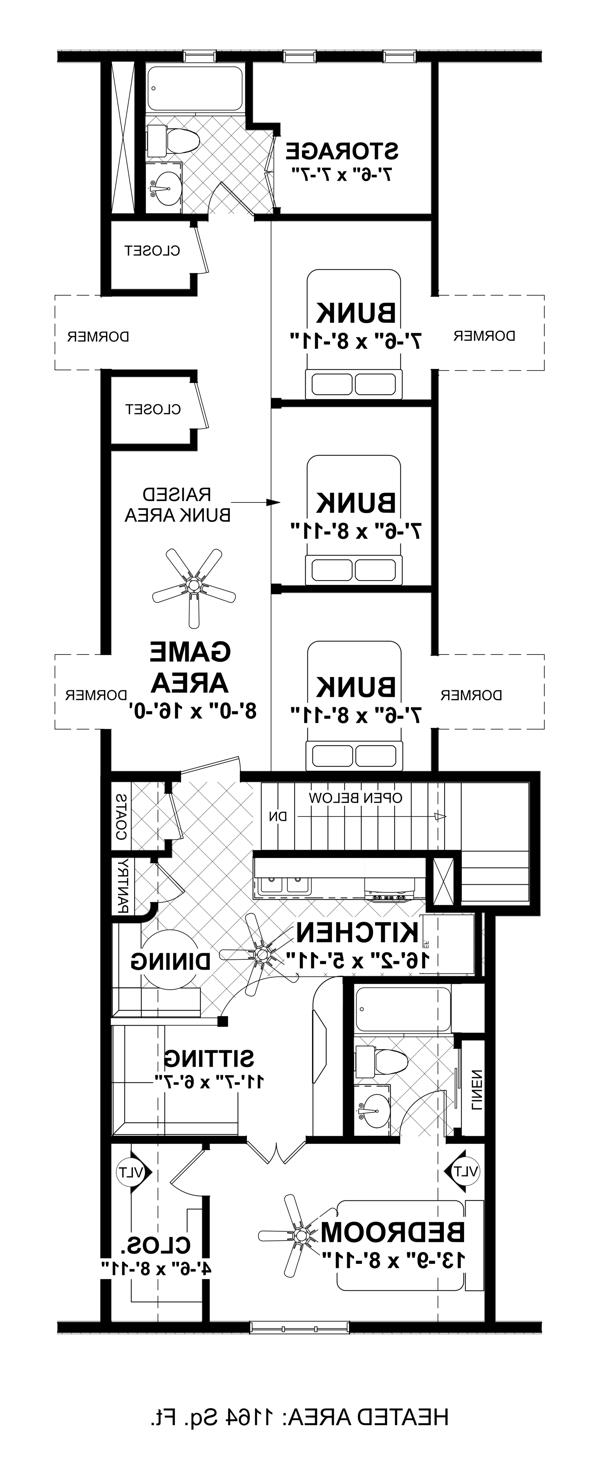 Upper Floorplan by DFD House Plans