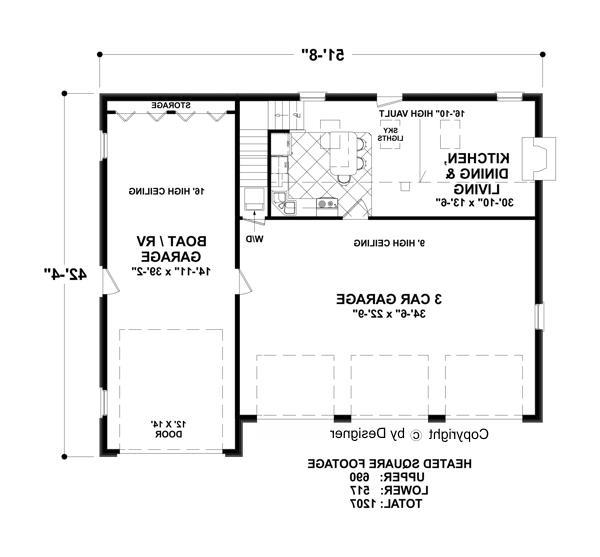 Lower Floorplan by DFD House Plans