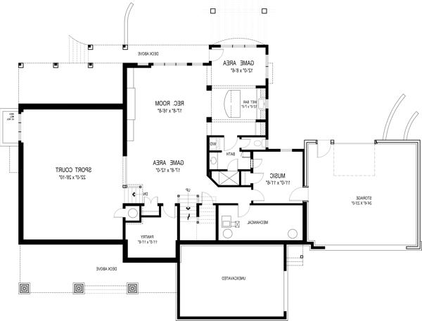 Optional Basement Plan by DFD House Plans
