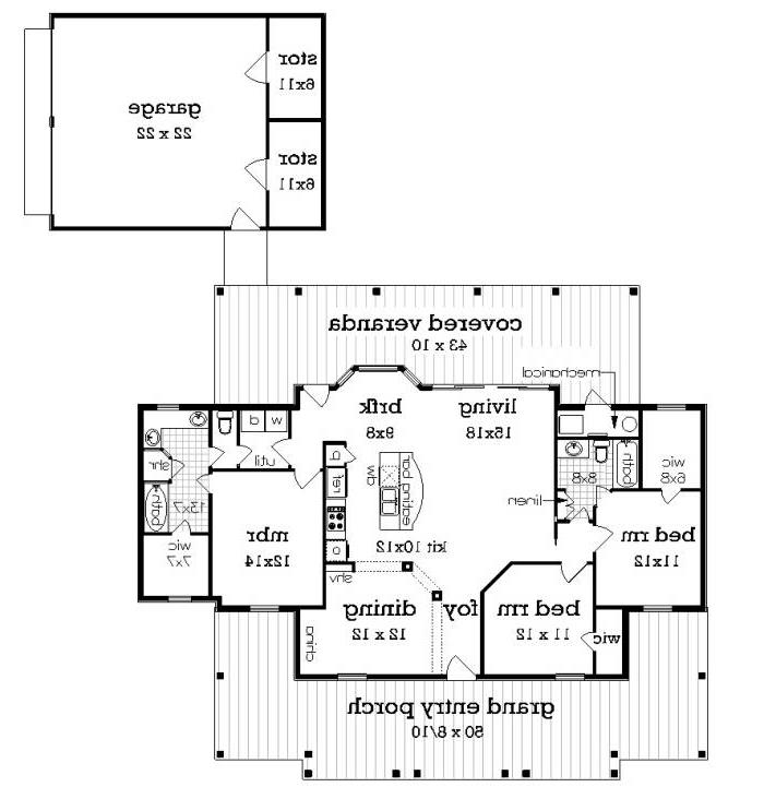 floor plan with br3 and optional garage