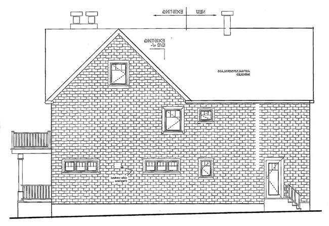 left elevations by DFD House Plans