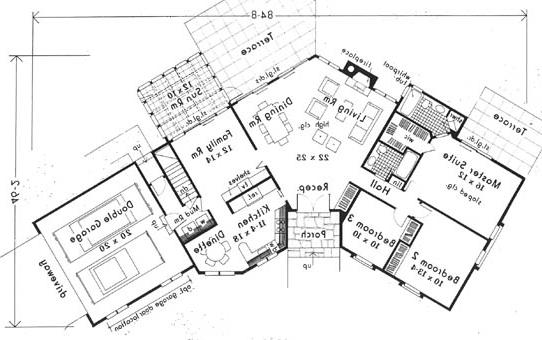 Fist Floor by DFD House Plans