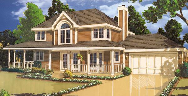 front rend by DFD House Plans