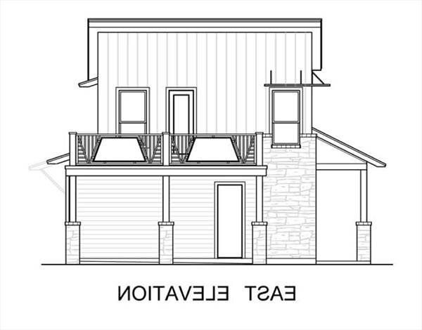 East Elevation by DFD House Plans