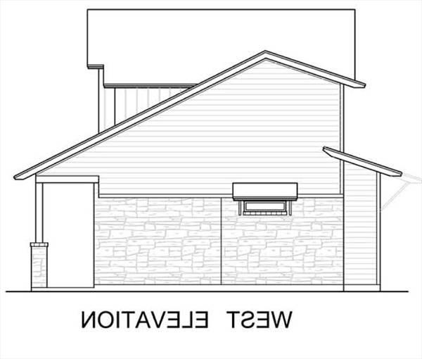 West Elevation by DFD House Plans