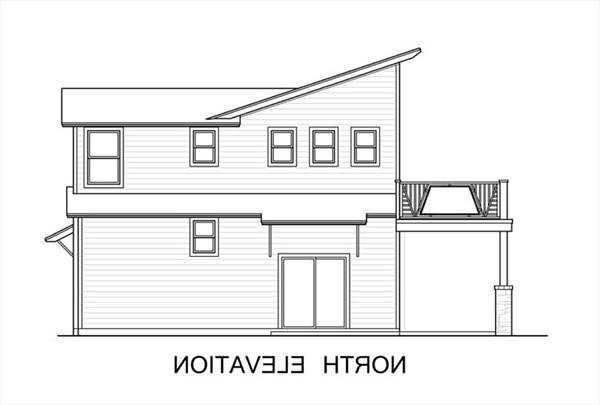 North Elevation by DFD House Plans