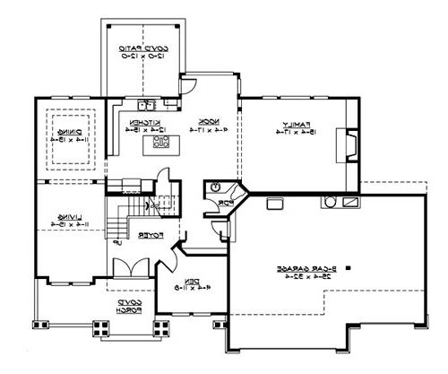 Main Floor by DFD House Plans