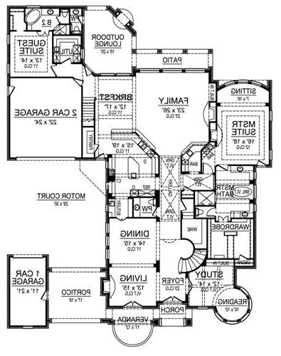 First Floor by DFD House Plans
