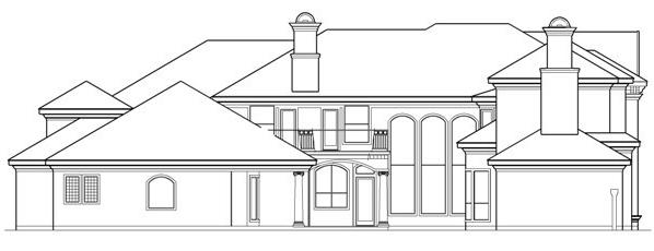 Right Elevation by DFD House Plans