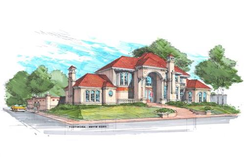 Color Rendering 2 by DFD House Plans