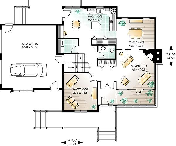 First level by DFD House Plans