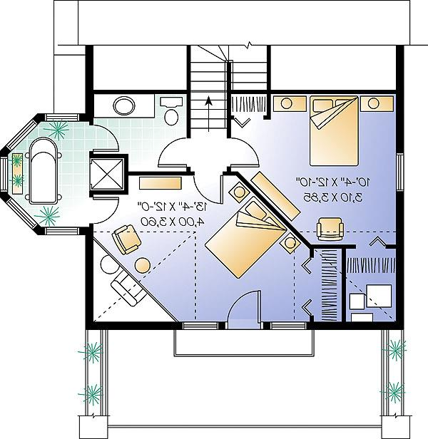 Second Level - Opt 2 by DFD House Plans