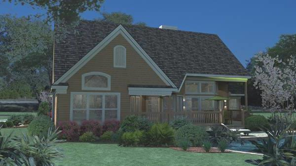 Rendering - Rear by DFD House Plans