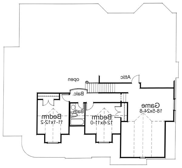 Alternate Second Floor Plan by DFD House Plans