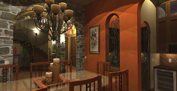Interiors - Dining to Foyer