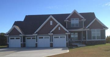 Shown with 4-Car Garage by DFD House Plans