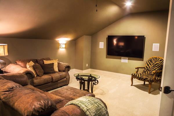 Media Room by DFD House Plans