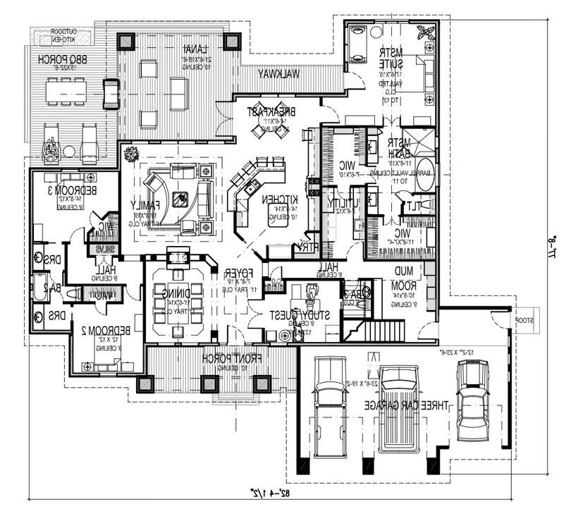 First Floor Plan w/ Bonus Room Stair