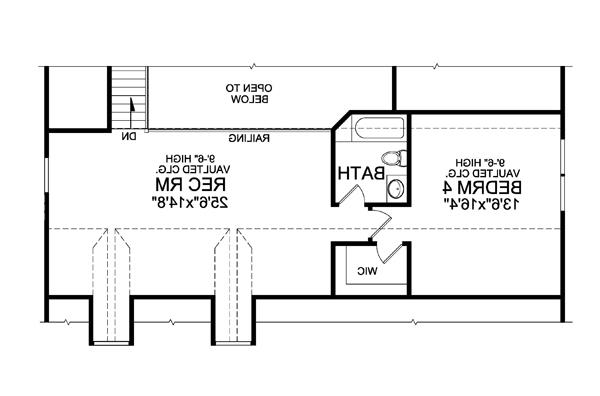 Optional Finished Second Floor by DFD House Plans