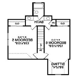 Bonus Second Floor Plan by DFD House Plans