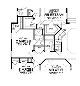 Optional 3rd Bath Plan by DFD House Plans