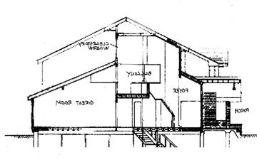 Cross-section by DFD House Plans