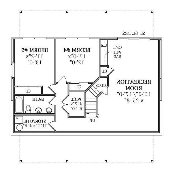 Optional Walk-out Basement Plan by DFD House Plans