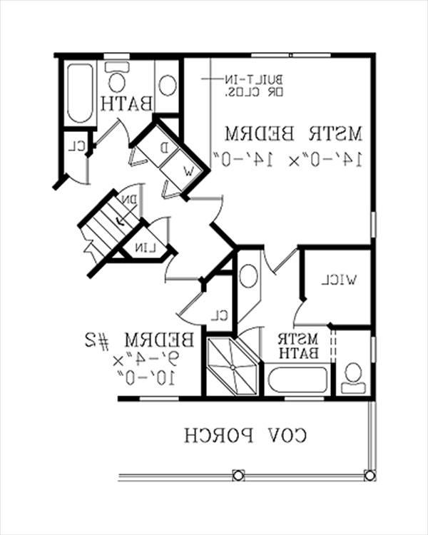 Alternate Floor Plan by DFD House Plans