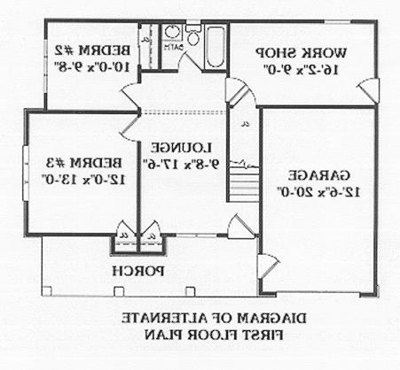 Optional Floor Plan by DFD House Plans