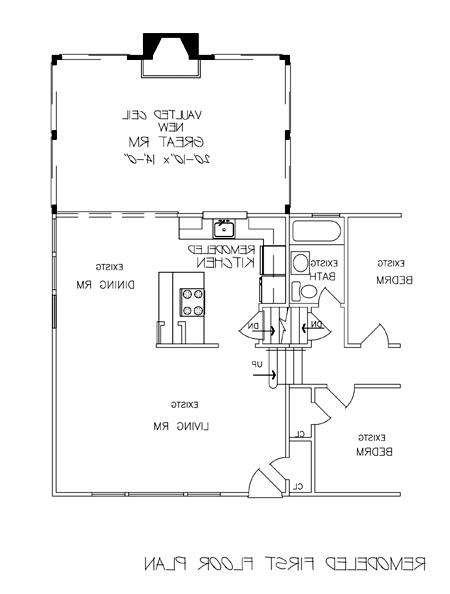 Remodeled First Floor Plan