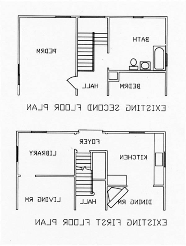 1st & 2nd Existing Floor Plans by DFD House Plans