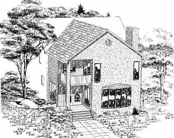 Remodeled Rear Rendering by DFD House Plans